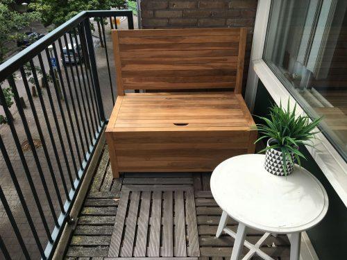 Balcony bench with storage - 100 x 60 x 90 cm