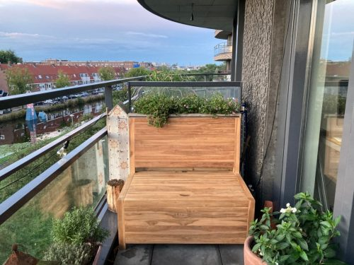 The balcony bench will last a long time and continue to look beautiful and sleek. We recommend treating the bench.