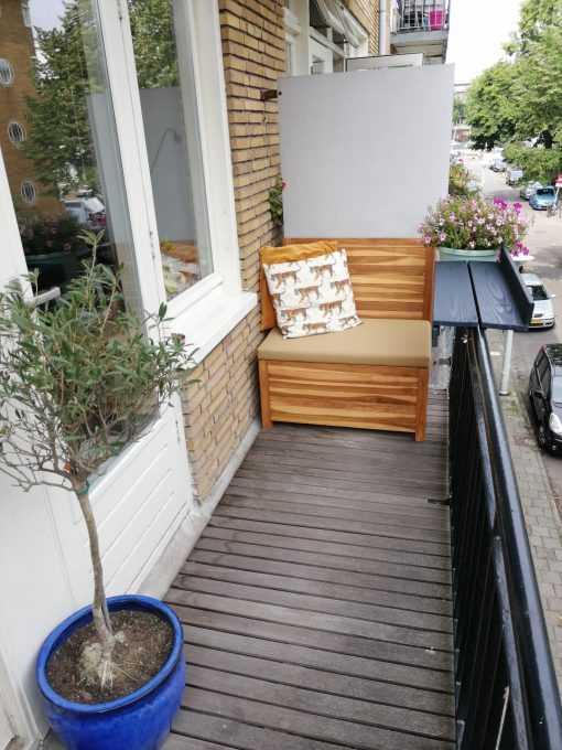 Balcony bench 85 cm wide. Make your balcony cosy with the balcony bench