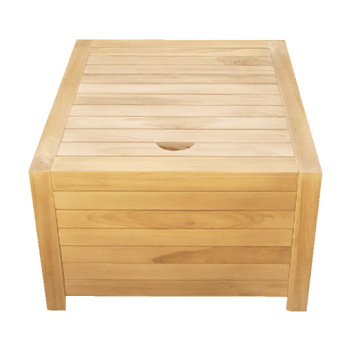 Wooden balcony stool compatible with the balcony bench
