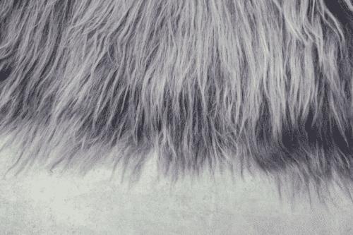 Grijze IJslandse schapenvacht