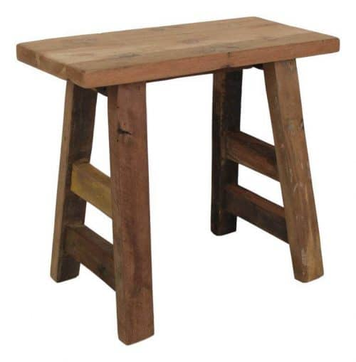 Teak balcony stool made from reclaimed teak