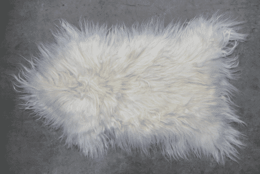 White Icelandic Sheepskin Rug spread out