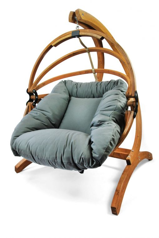 Gaya hanging chair with Dralon cushion and genoa stand