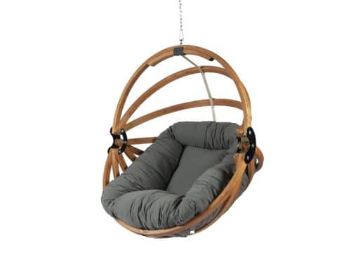 Gaya wooden hanging chair with Dralon cushion