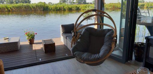 Jagram Gaya M houten hangstoel met dralon kussen-2