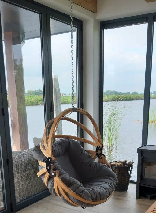 Jagram Gaya M houten hangstoel met dralon kussen