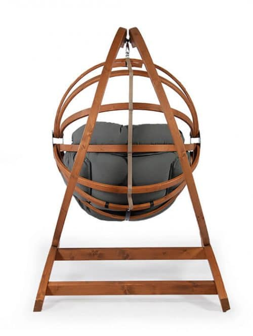 Genoa Wooden Hammock Chair in combination with the Gaya Wooden Hanging Egg Chair