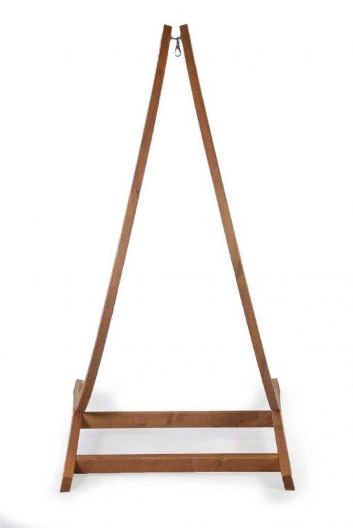 Houten hangstoel houder optimist- achterkant