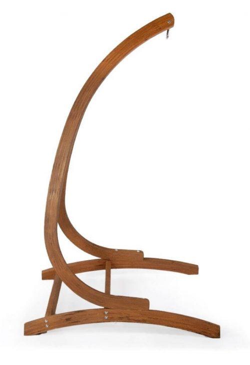 Houten hangstoel houder optimist - zijkant