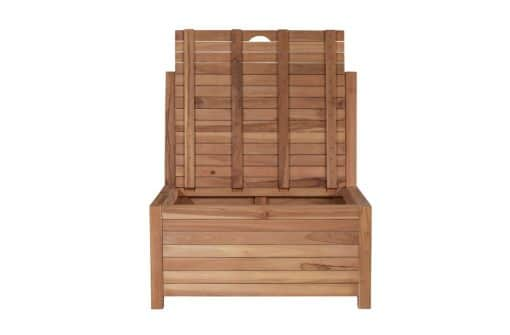 Lounge balcony bench with storage space - 85 x 80 x 90 cm - with storage space