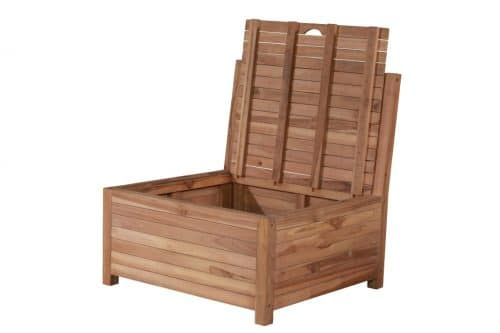Lounge balcony bench with storage space - 85 x 80 x 90 cm - with storage space - at an angle