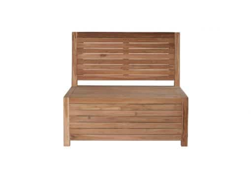 Balcony lounge bench with storage - 100 x 85 x 90 cm