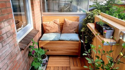 Expand your shopping collection with the balcony bench