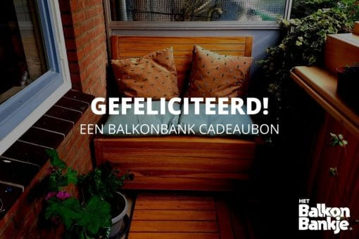 The Balcony Bench Gift Voucher The best gift for someone with a balcony.