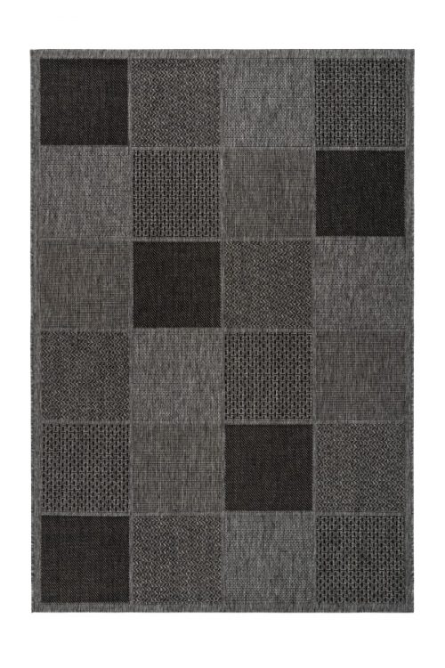 Balcony rug with a playful pattern Very suitable for outdoor use.