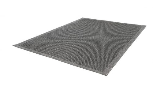 Balcony rug with a grey mesh pattern. Very suitable for outdoor use.