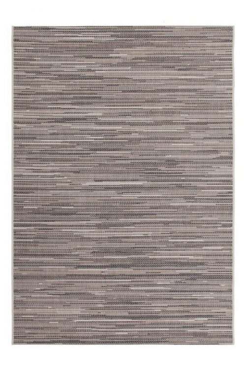 Beige balcony rug with a melange print. Very suitable for outdoor use.