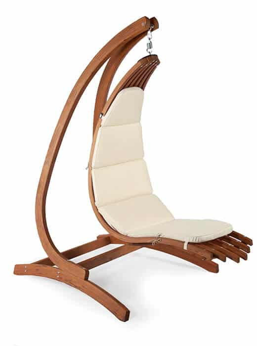 Wave Wooden Hanging Chair with Optimist wooden hanging chair holder