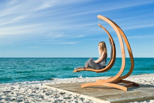 Lounge hanging chair Wave at dream location